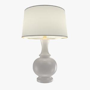 3d table lamp robert abbey model