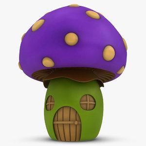 mushroom house purple 3ds
