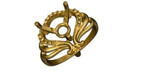 3d gold ring