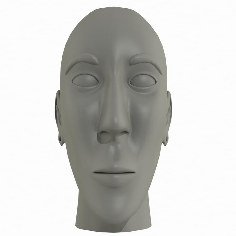 free cartoon character 3d model