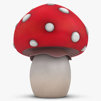 3d 3ds cartoon mushroom