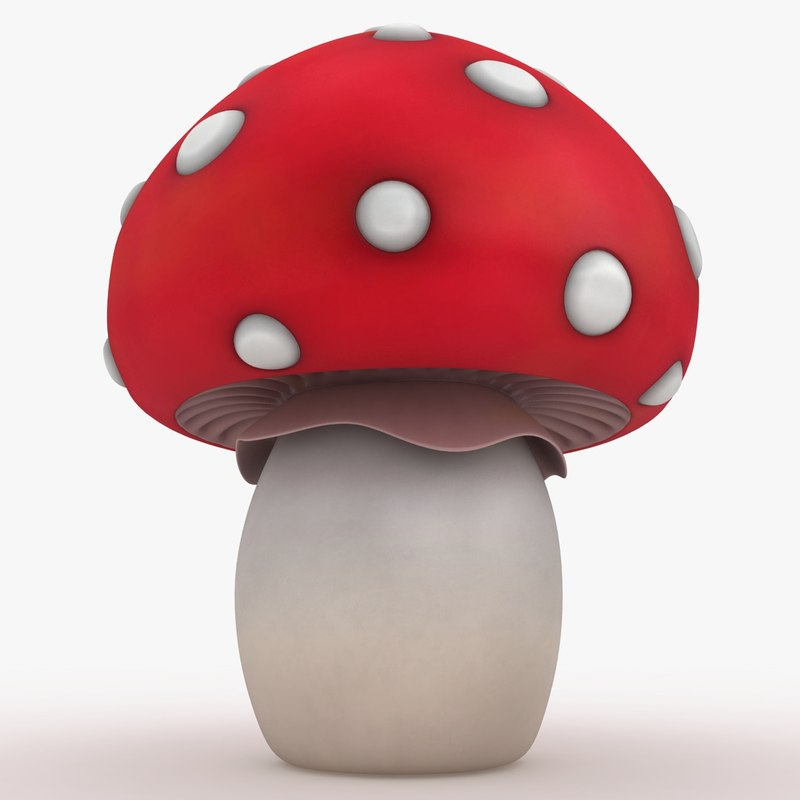 3d 3ds cartoon mushroom