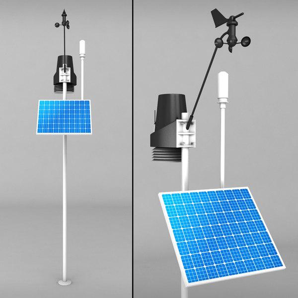 weather meteo station 2 3d model