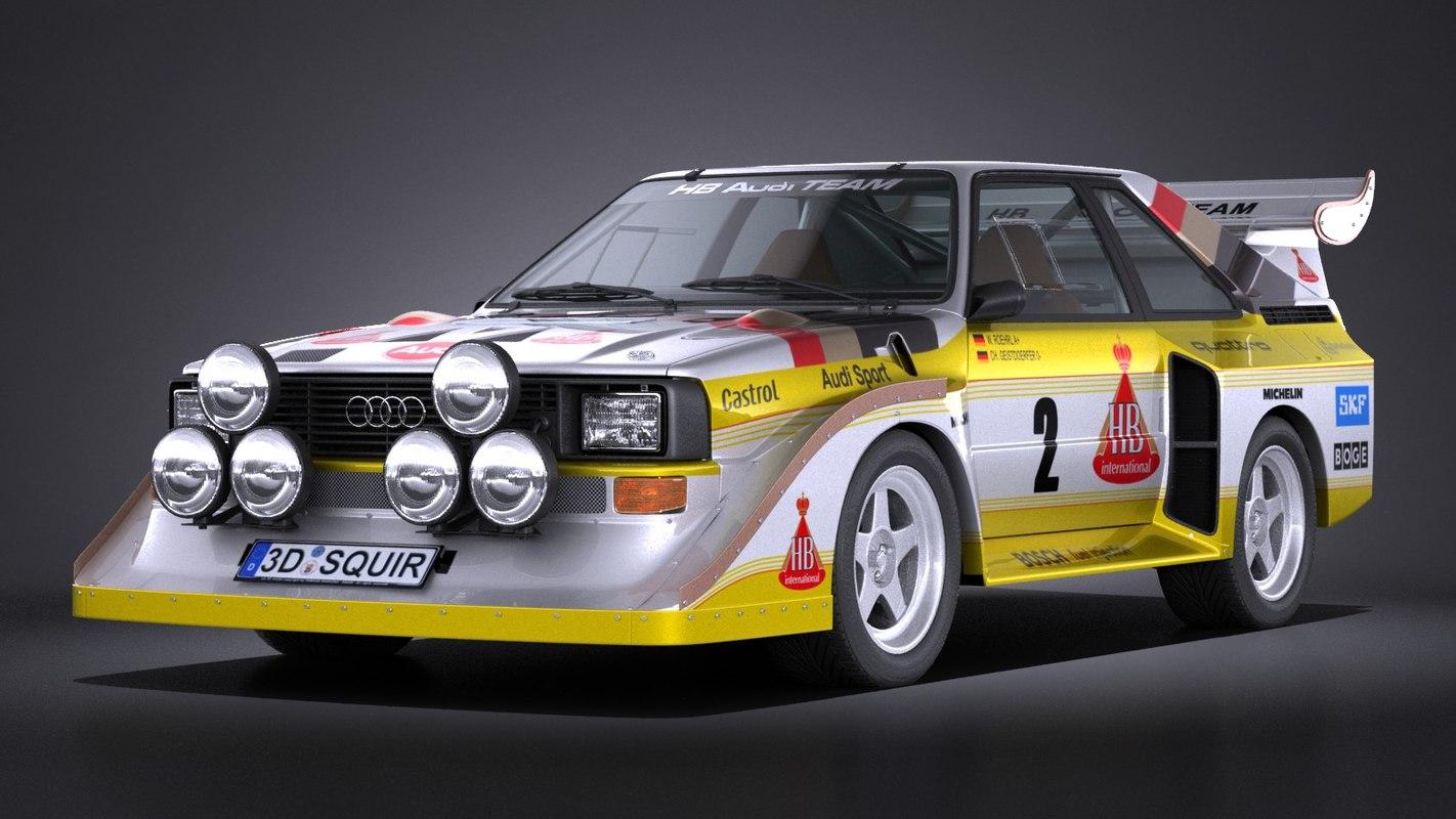3d Audi Sport Quattro Model