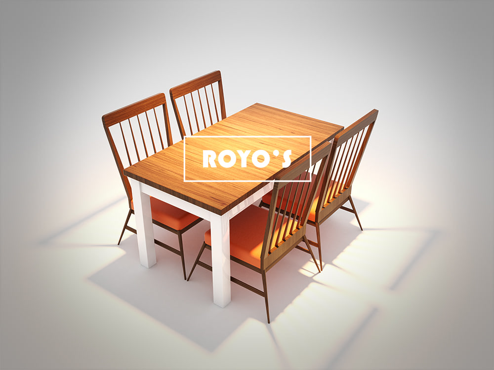 cafe dining table chair 3d max