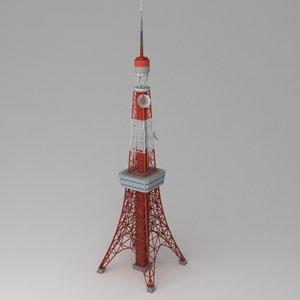 obj tokyo tower