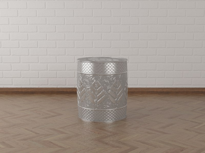 3d decoration engraved table model