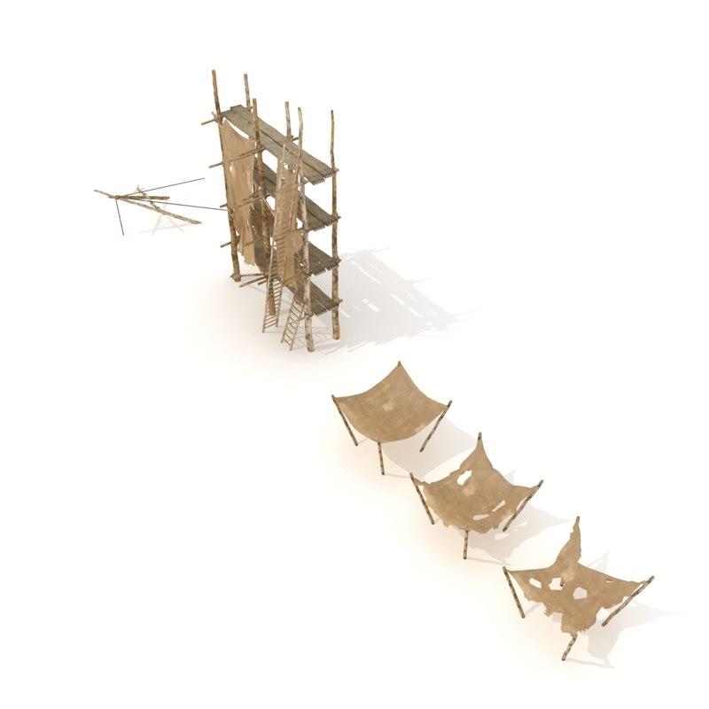 scaffolding set 3d model