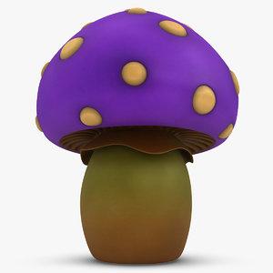 cartoon mushroom purple max