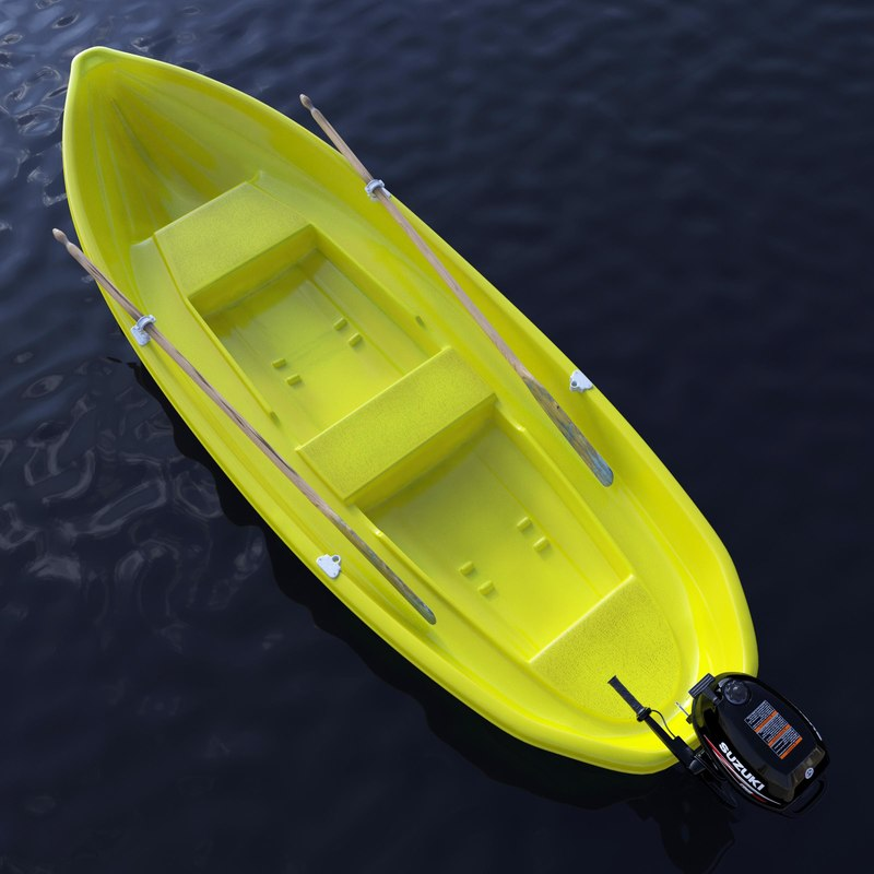 rowing boat 3d max