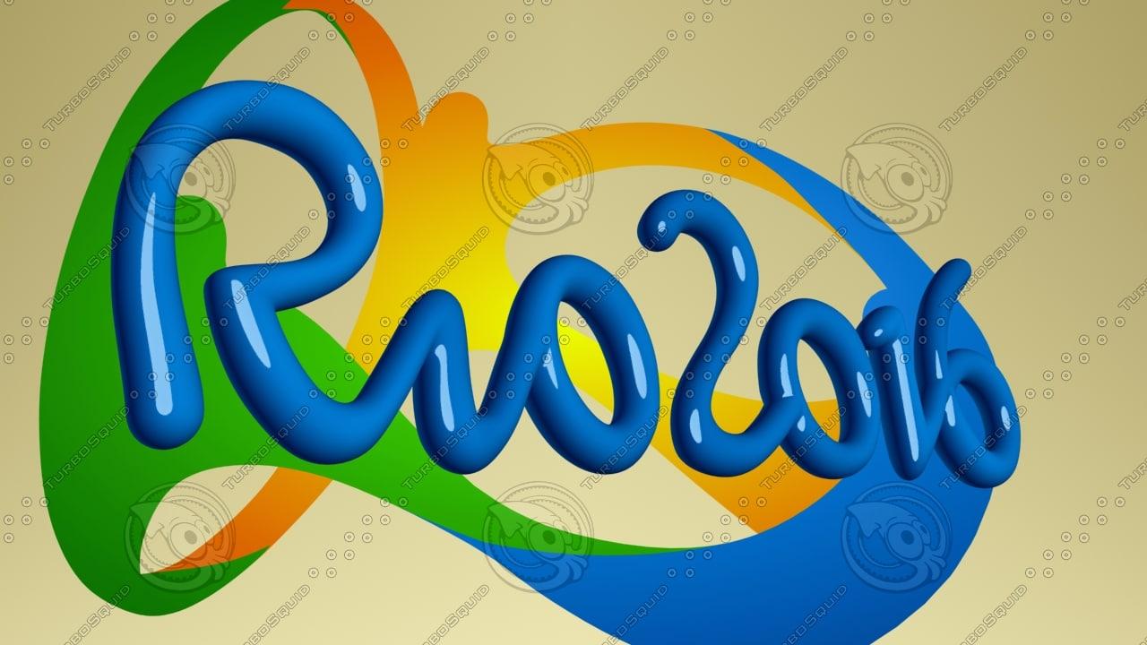 3d model 2016 rio logo