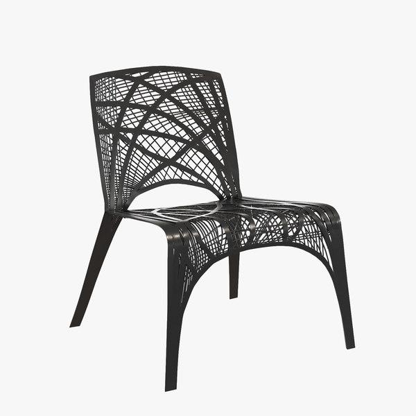 carbon chair designer marleen 3d 3ds