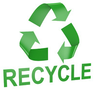Recycle Symbol text