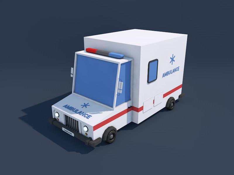 ambulance car 3d 3ds
