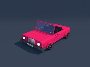 3d cabriolet cabrio model