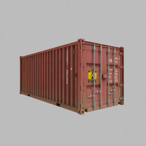 free obj mode shipping container
