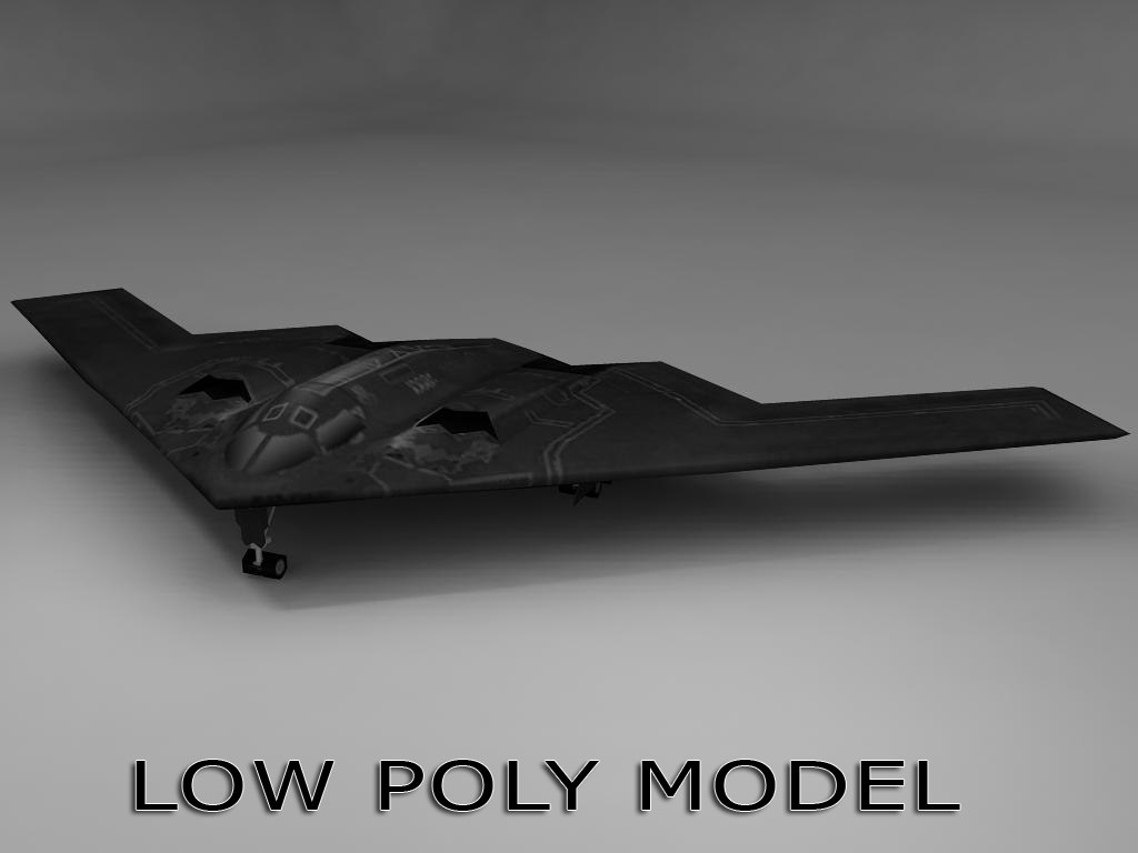 3d model low-poly b2 stealth bomber