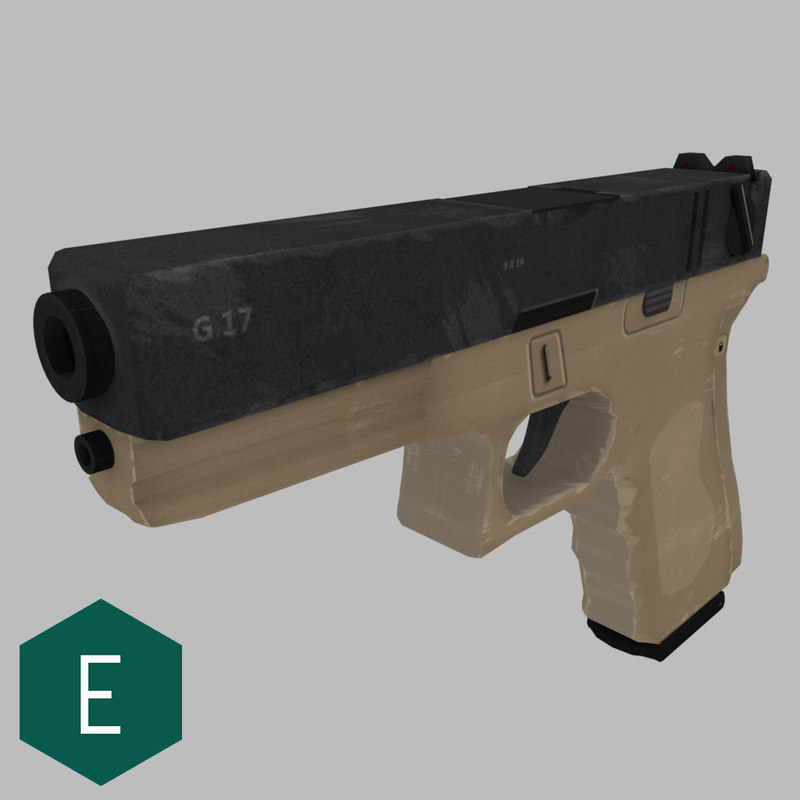 3d glock 17 model