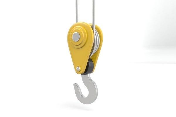 3d crane hook model