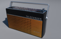 3d model cute retro telefunken star