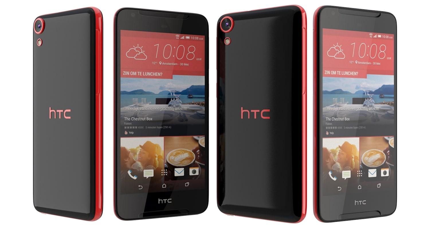 3d model htc desire 628 black
