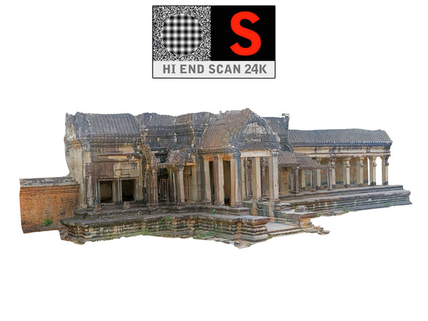 3d model gates angkor 24k