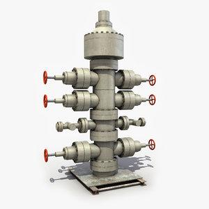 3d wellhead oil model