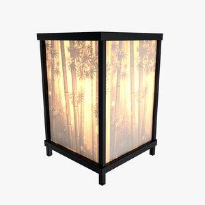 max table lamp bamboo motif