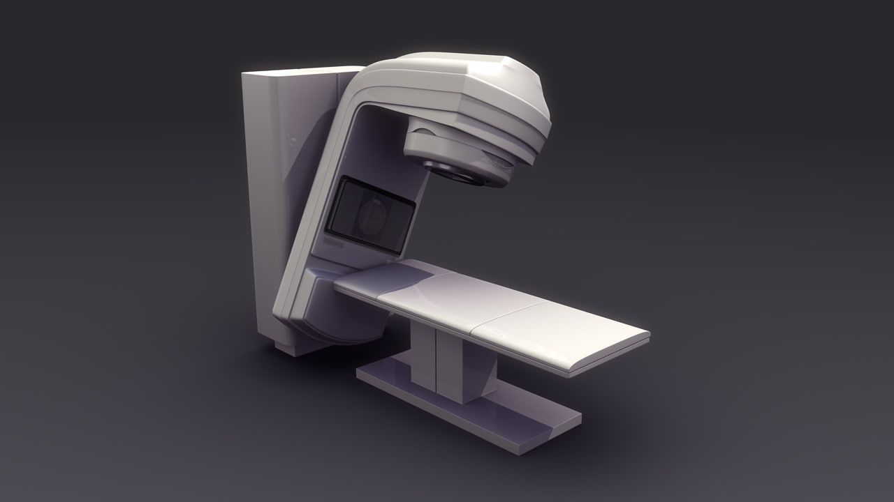 radiotherapy machine 3d obj