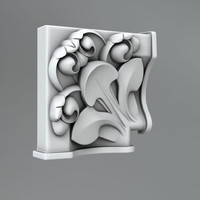 3d model of classical decoration ornamental