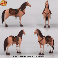 Cartoon Horse w Saddle