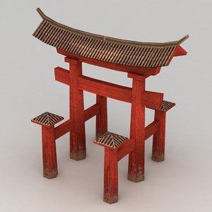 torii gate 3d max