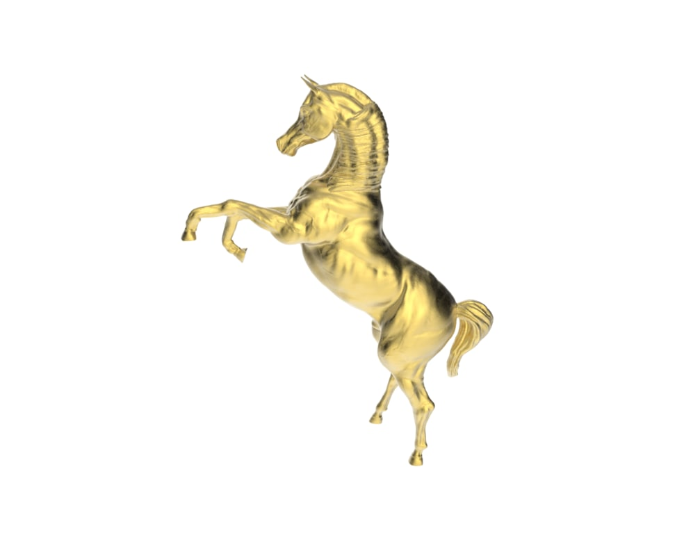 arabic prancing horse 3d obj