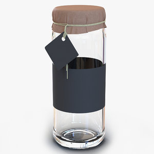 3ds glass jar 4
