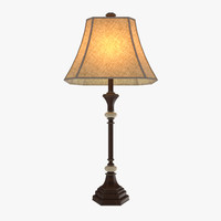 3d model table lamp traditional floor