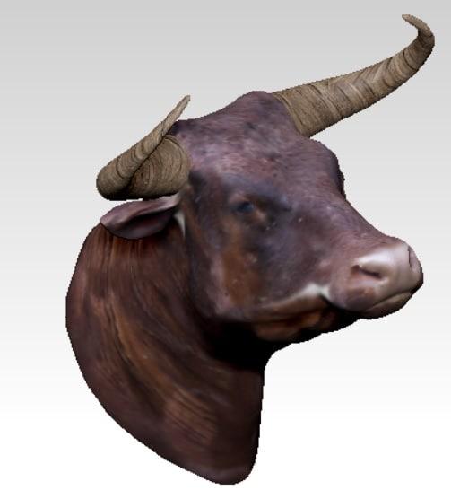 3d obj bull