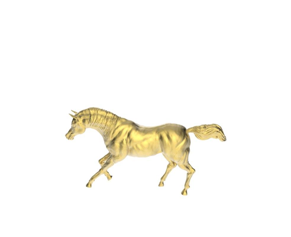 3d arabic galloping horse model