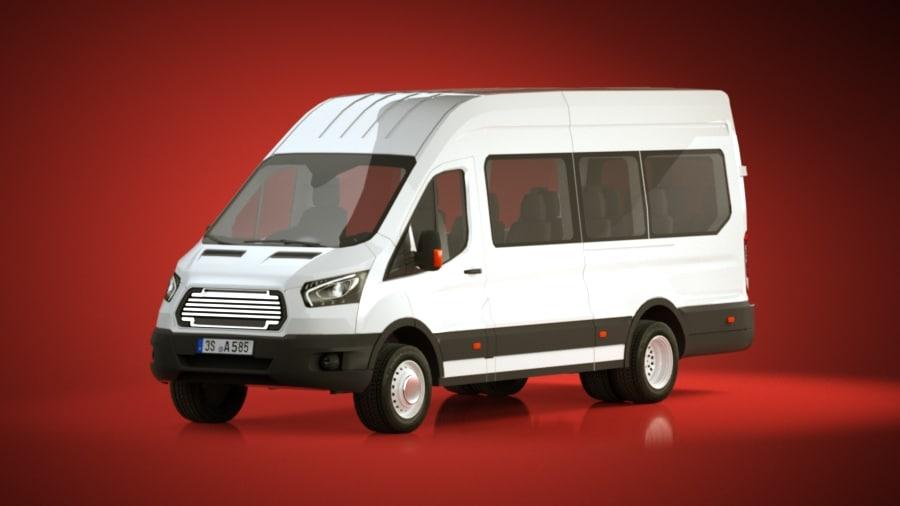 generic cargo van 3d model