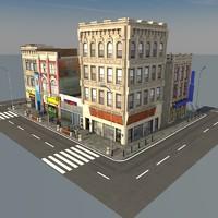 3d street scene model