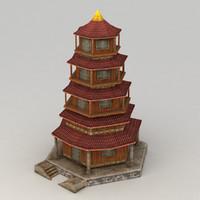 pagoda 3d max