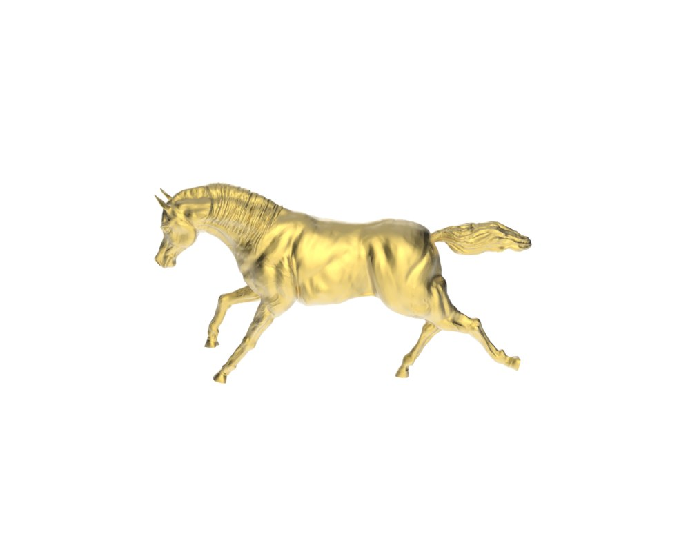 3d model arabic galloping horse 3