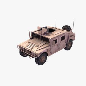hmmwv hummer jeep egyptian 3d model