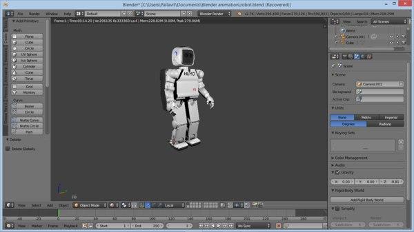 obj humanoid robot