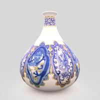 vase japanese porcelain 3d max