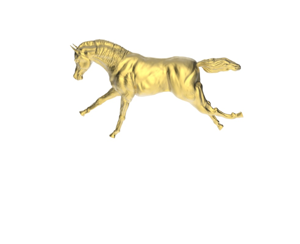 3d obj arabic galloping horse