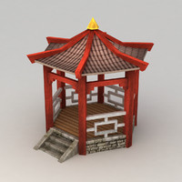 Lowpoly chinese pavilion
