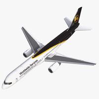 boeing 757 200 ups 3d model