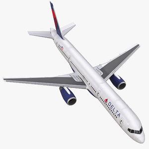 boeing 757-200 delta air lines 3d max