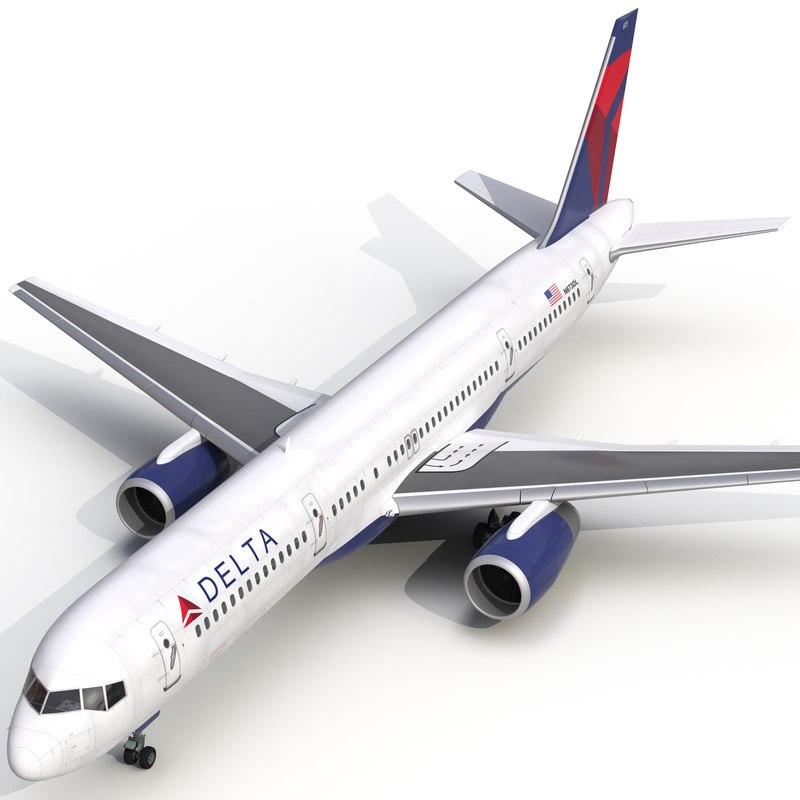 3d boeing 757-200 delta air lines
