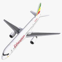 Boeing 757-200 Ethiopian Airlines Rigged 3D Model
